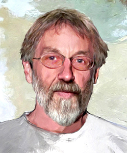 Portrait of John Zerzan by bata Nesha. Belgrade, 2005.